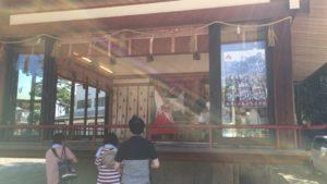 岸城神社 神楽殿