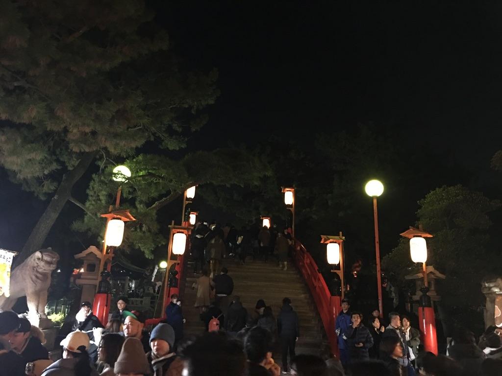 住吉大社 初詣 太鼓橋 反橋