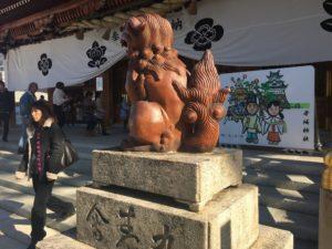 岸和田七宮詣り 岸城神社 狛犬