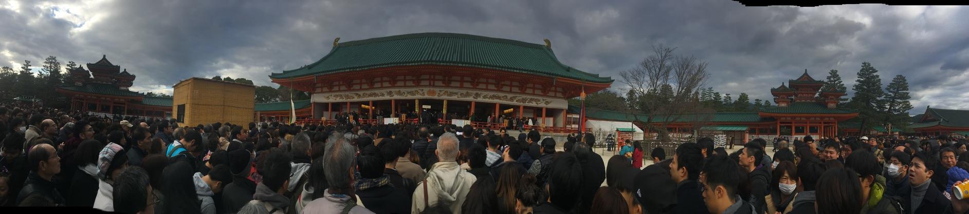 平安神宮 初詣 外拝殿