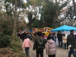 下鴨神社 初詣 糺の森 出店
