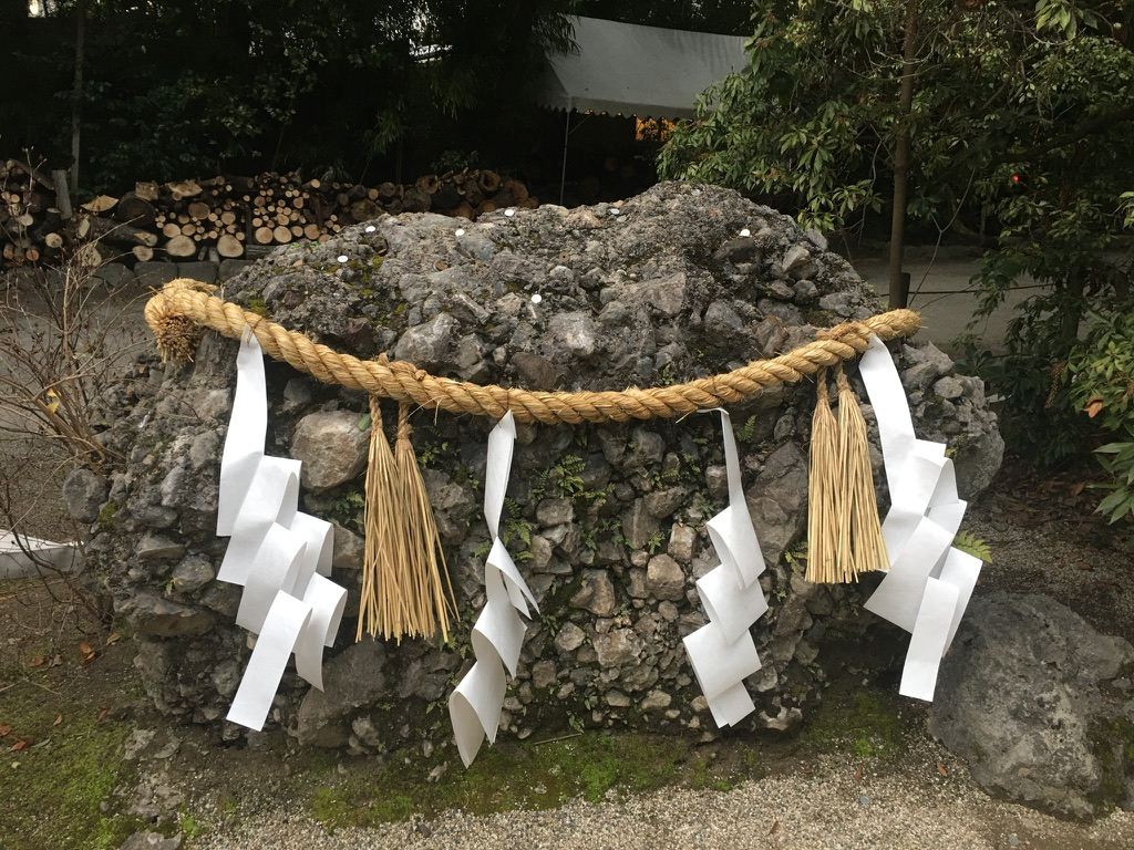 下鴨神社 初詣 さざれ石
