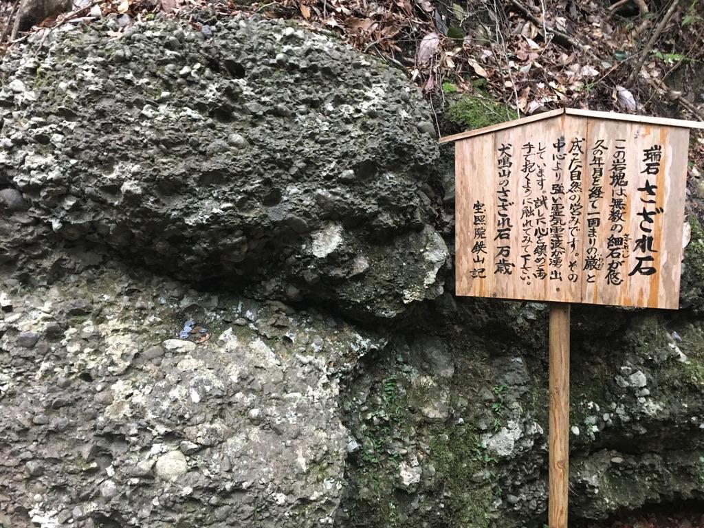 犬鳴山七宝龍寺 初詣 参詣路 さざれ石