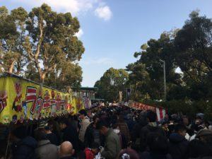 大鳥大社 初詣 参道