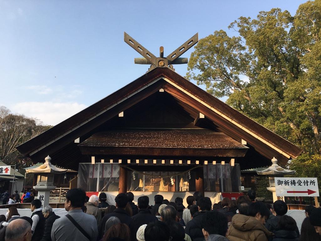 大鳥大社 初詣 拝殿