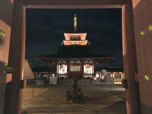 四天王寺 初詣 中門(南大門から)