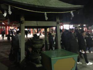 成田山不動尊 初詣 線香