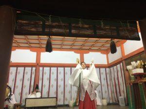 石清水八幡宮 初詣 神楽