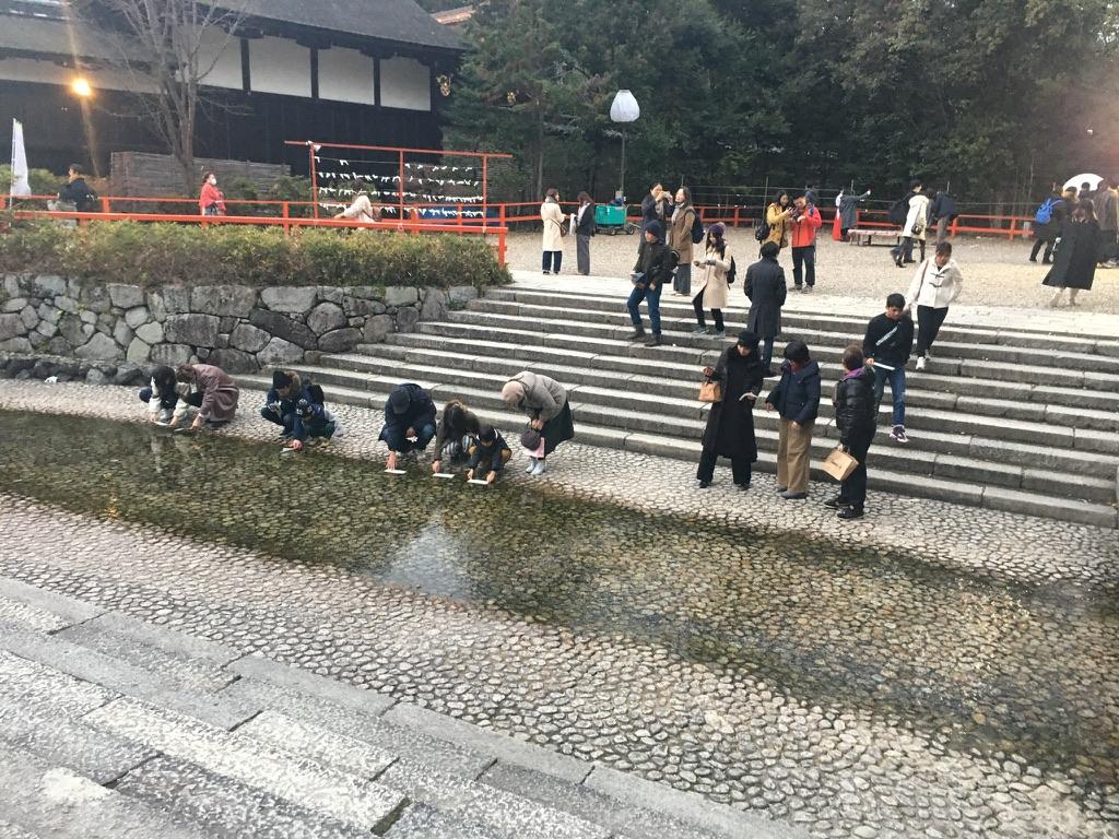 下鴨神社 初詣 御手洗池