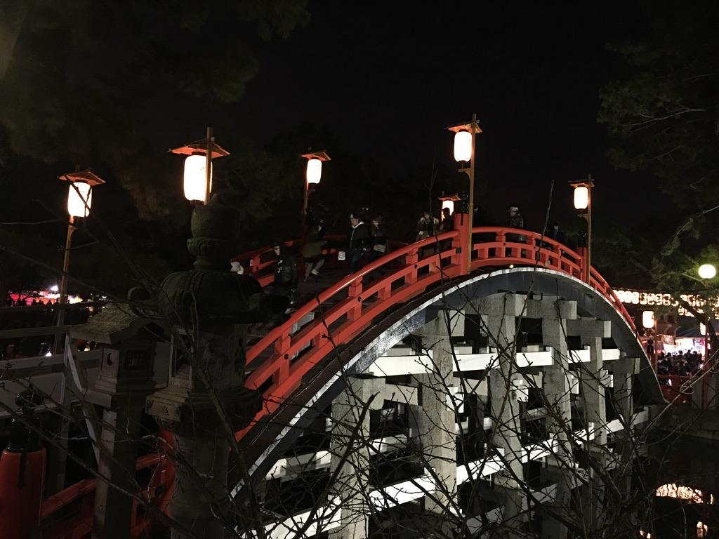 住吉大社 初詣 太鼓橋 反り橋