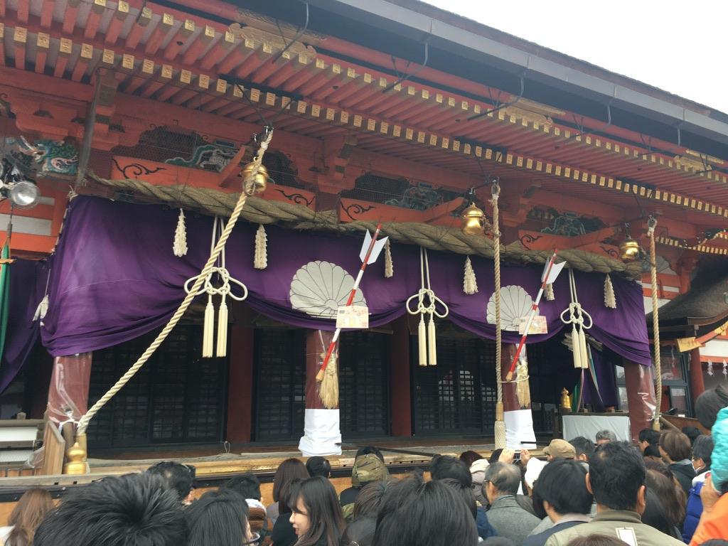 八坂神社 初詣 本殿