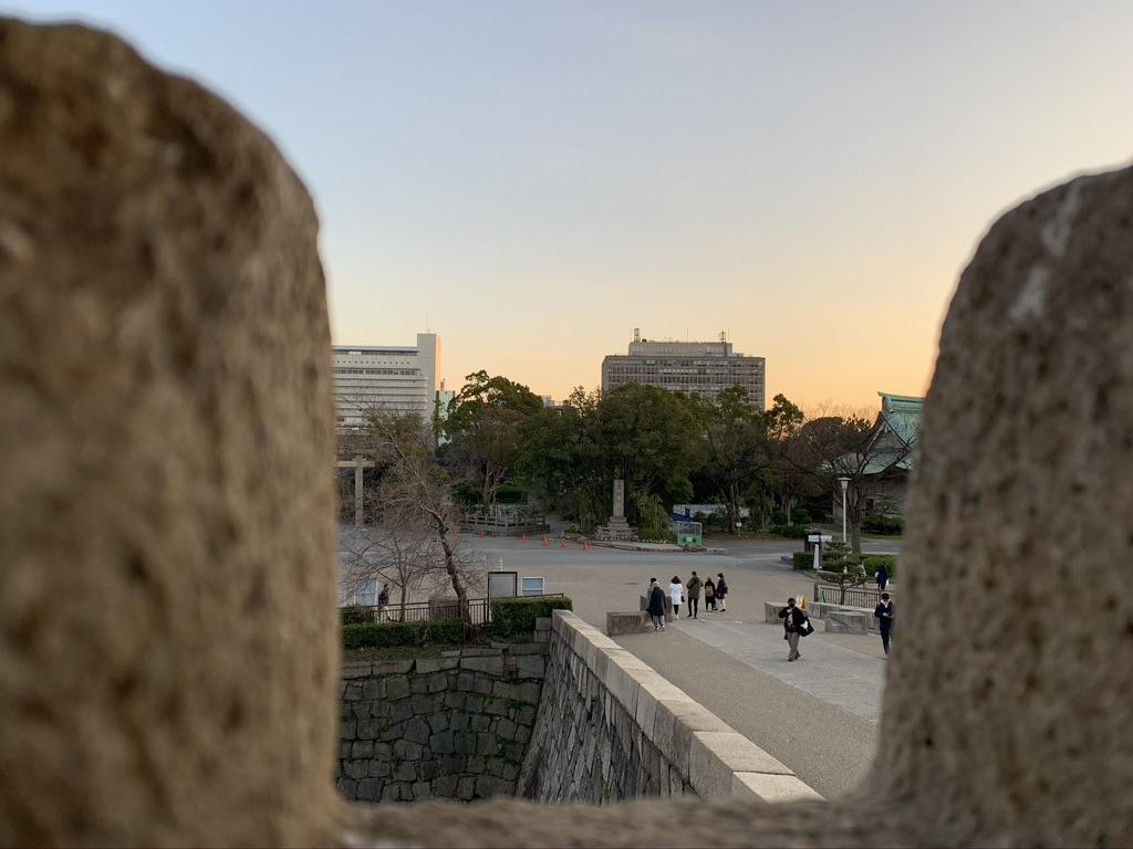 大阪城 狭間
