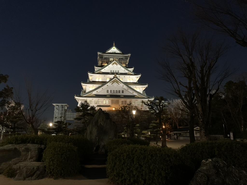 大阪城 夜景 天守閣