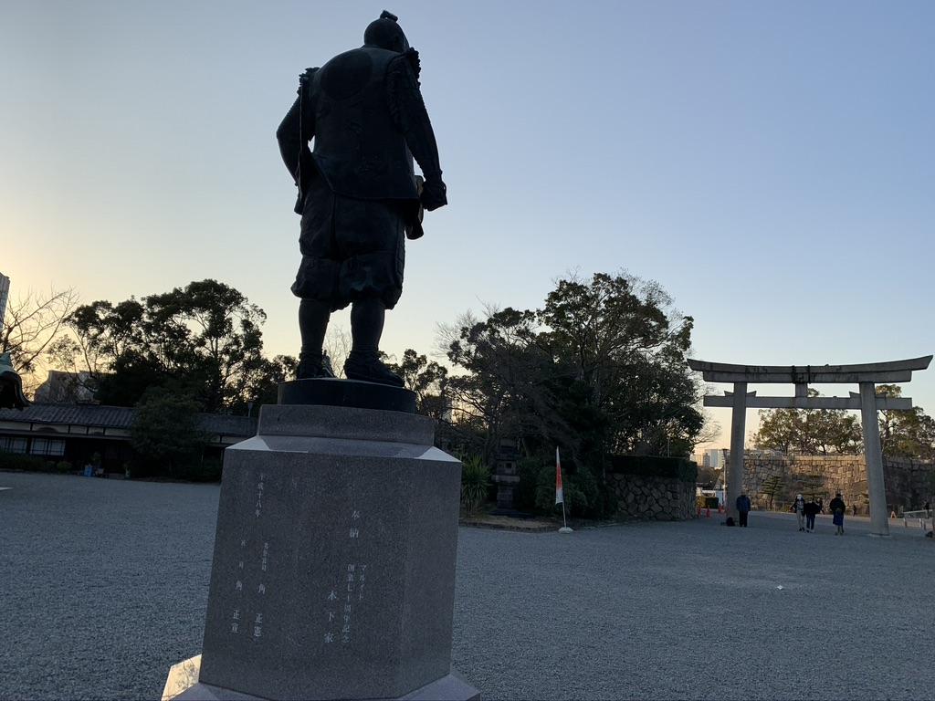 豊国神社 豊臣秀吉銅像
