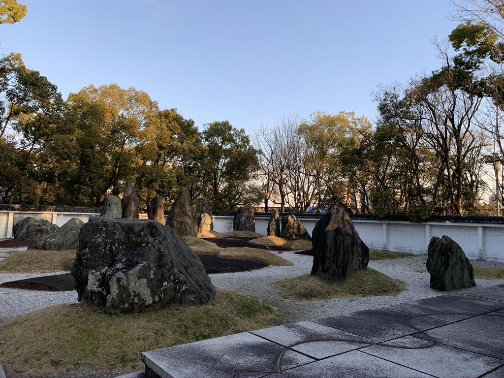 豊国神社 秀石庭