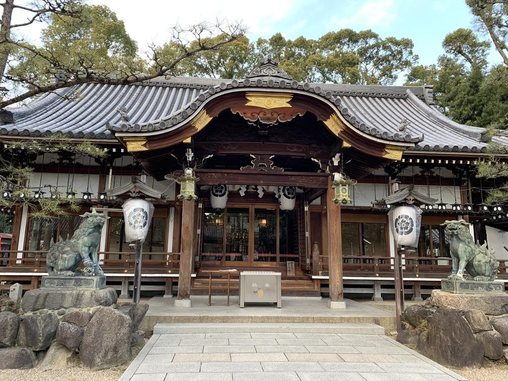 杭全神社 拝殿
