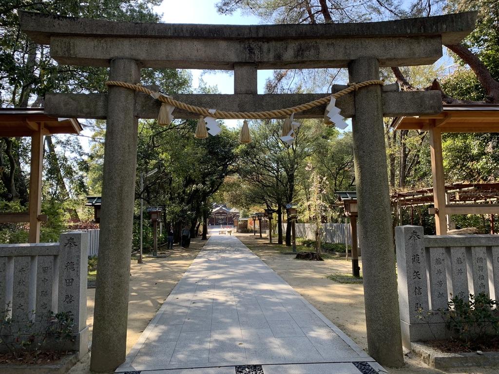 辛国神社 二の鳥居