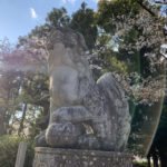 波太神社 一の鳥居 狛犬
