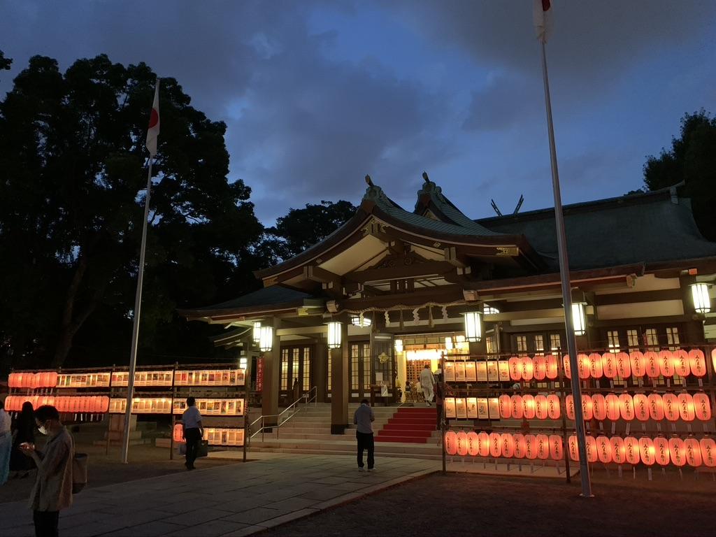 大阪護国神社 みたま祭り 本殿