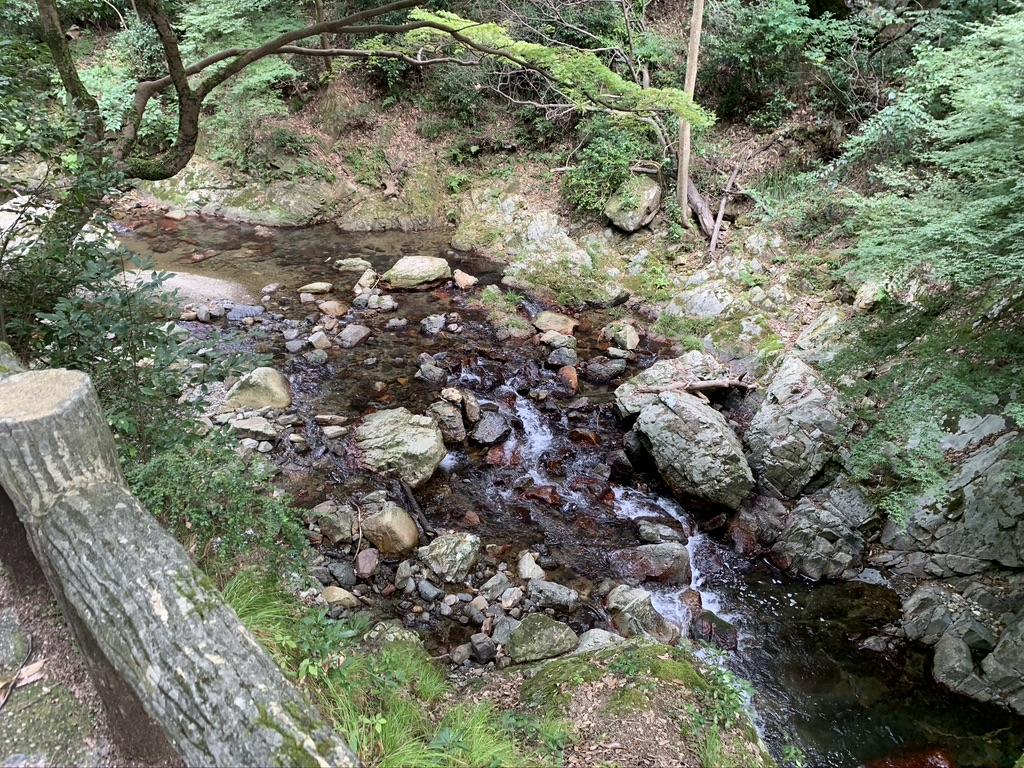 箕面の滝 滝道 川