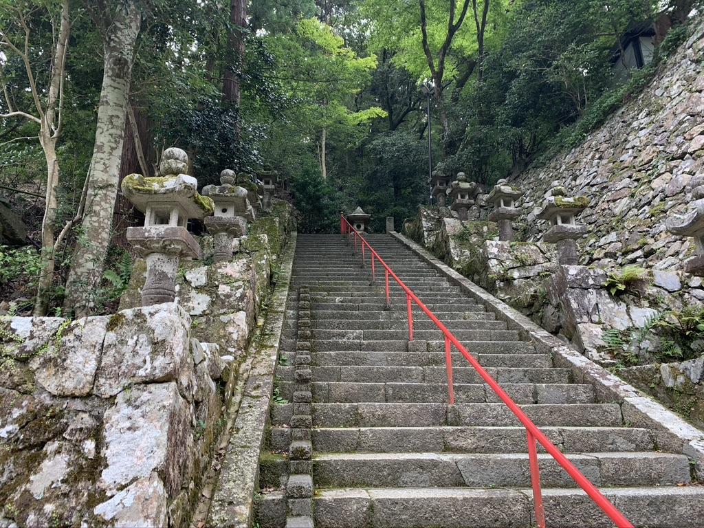 瀧安寺 石段