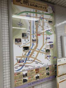 西国三十三所 地下鉄 醍醐駅 案内図