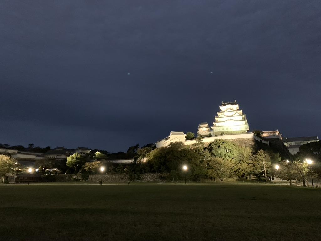 姫路城 夜 天守閣 ライトアップ
