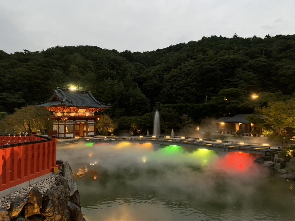 勝尾寺 弁財池 ライトアップ