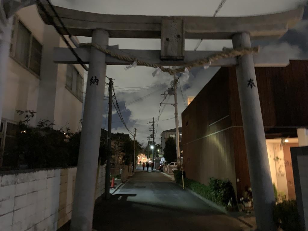岸和田七宮詣 夜疑神社 一ノ鳥居