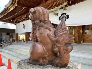 岸和田七宮詣 岸城神社 狛犬