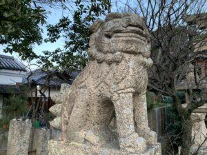土生神社 狛犬