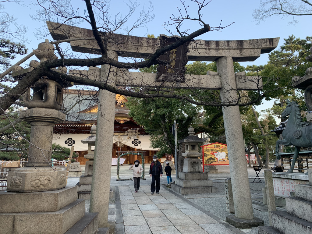 岸城神社 二の鳥居