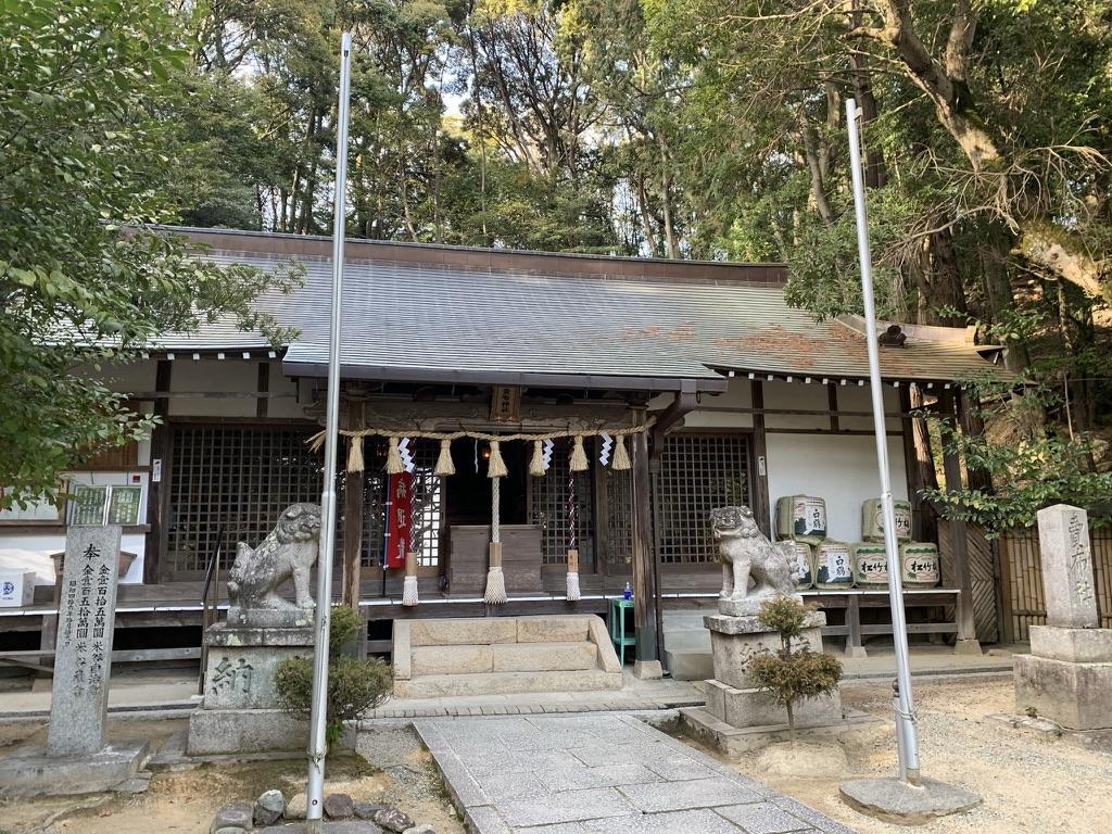売布神社 拝殿