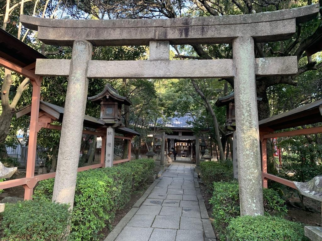 土生神社 二の鳥居