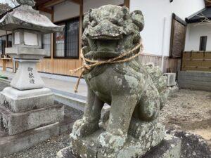 岸和田七宮詣 積川神社 狛犬