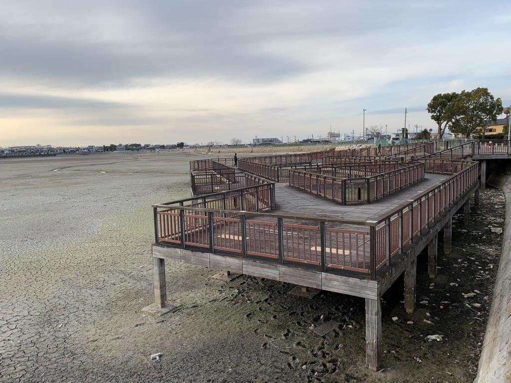 久米田池 遊歩道