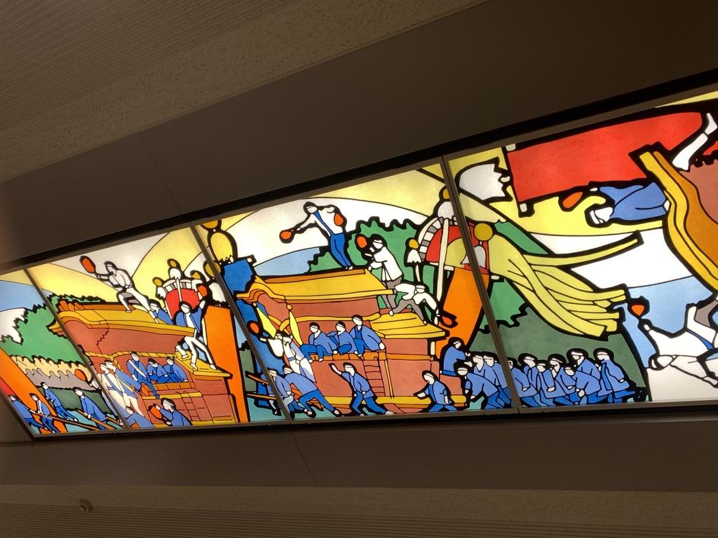 岸和田駅 天井 ステンドグラス