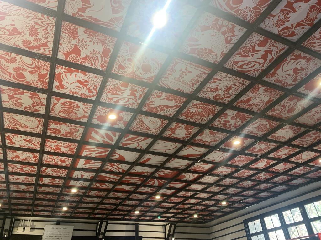 極楽橋駅 ケーブルカー コンコース 宝来天井絵