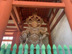 高野山 壇上伽藍 中門 四天王