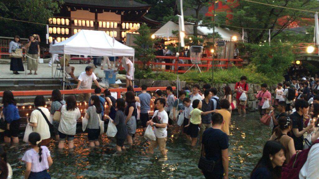 下鴨神社 みたらし祭り 御手洗池